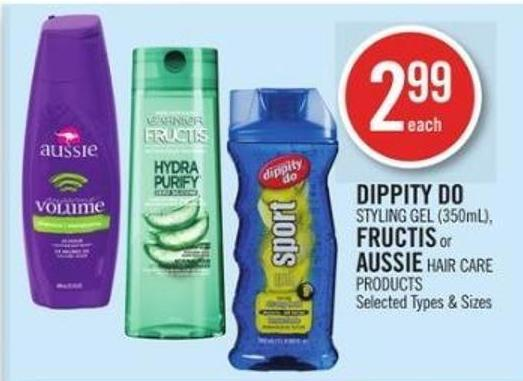 Dippity Do   Styling Gel (350ml) - Fructis or Aussie Hair Care Products
