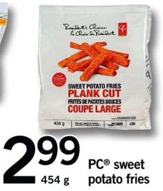 PC Sweet Potato Fries - 454 G