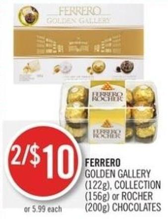 Ferrero Golden Gallery (122g) - Collection (156g) or Rocher (200g) Chocolates