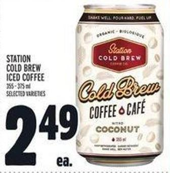 Station Cold Brew Iced Coffee