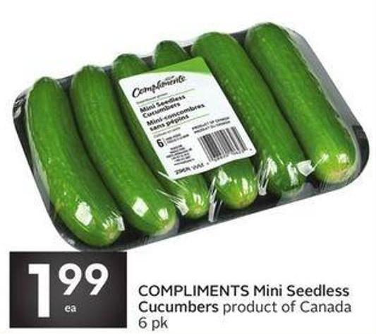 Compliments Mini Seedless Cucumbers