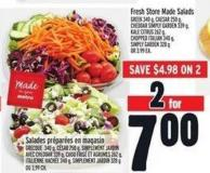 Fresh Store Made Salads