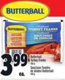 Butterball Turkey Franks - 450 g