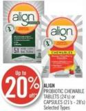 Align  Probiotic Chewable Tablets (24's) or Capsules (21's - 28's)