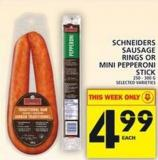 Schneiders Sausage Rings Or Mini Pepperoni Stick