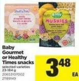Baby Gourmet or Healthy Times Snacks - 23-184 g