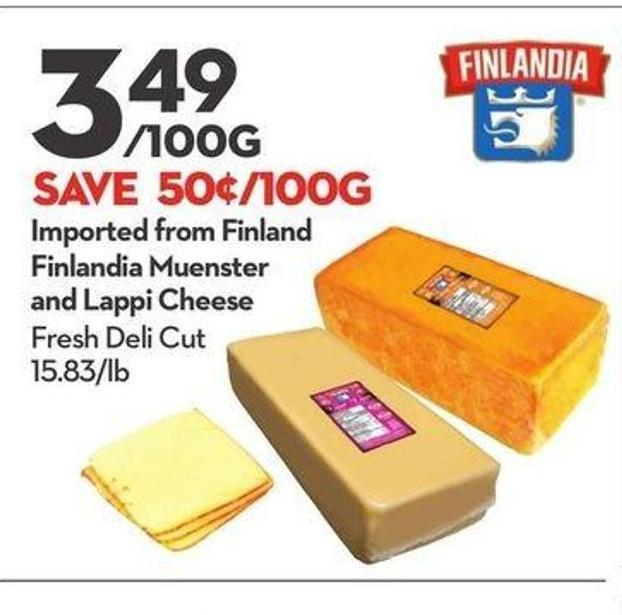 Imported From Finland Finlandia Muenster and Lappi Cheese