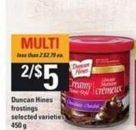 Duncan Hines Frostings - 450 g