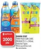 Banana Boat Twin Pack Sun Care Products 2 X 240ml
