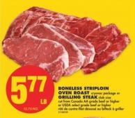 Boneless Striploin Oven Roast or Grilling Steak