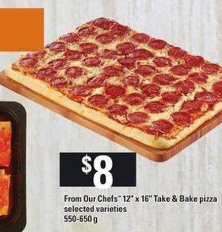 From Our Chefs 12in X 16in Take & Bake Pizza - 550 - 650 g