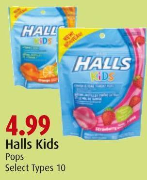 Halls Kids Pops Select Types 10