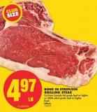 Bone In Striploin Grilling Steak
