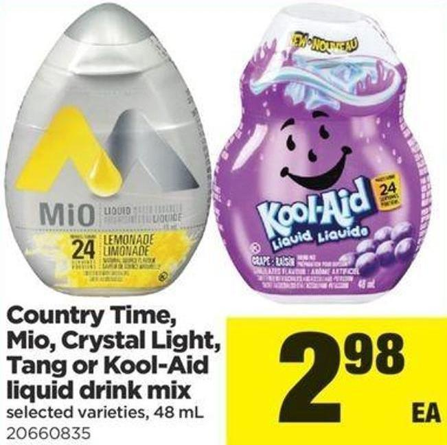 Country Time - Mio - Crystal Light - Tang Or Kool-aid Liquid Drink Mix - 48 Ml