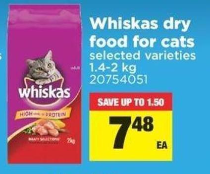 Whiskas Dry Food For Cats - 1.4-2 Kg