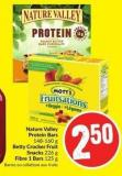 Nature Valley Protein Bars 148-160 g Betty Crocker Fruit Snacks 226 g Fibre 1 Bars 125 g