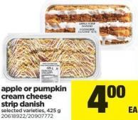 Apple Or Pumpkin Cream Cheese Strip Danish - 425 g