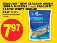 Seaquest New Zealand Green Lipped Mussels - 454 g or Seaquest Pacific White Shrimp Raw - 16-20's