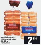 Old Mill Dinner Rolls White Or Whole Wheat - 350-468 G