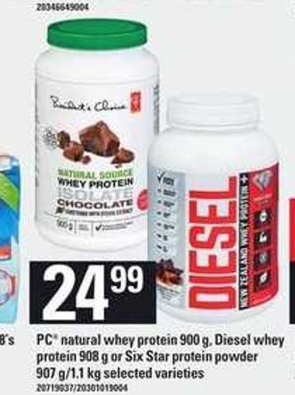 PC Natural Whey Protein - 900 G - Diesel Whey Protein - 908 G Or Six Star Protein Powder - 907 G/1.1 Kg