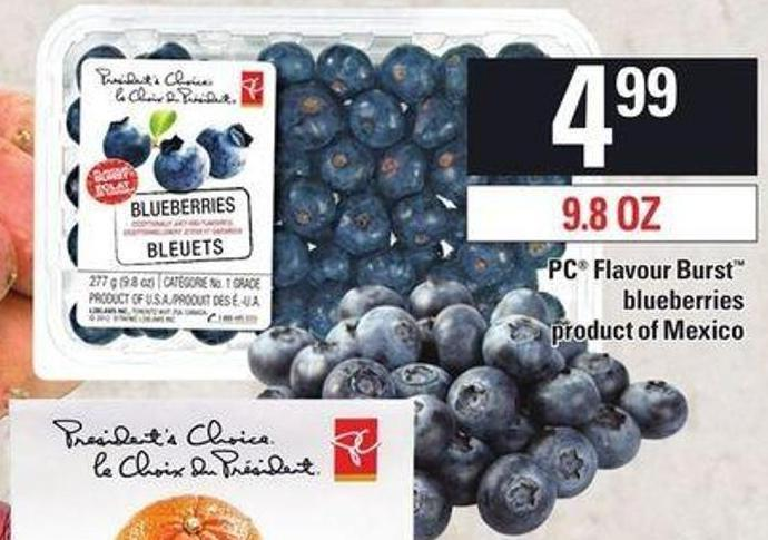 PC Flavour Burst Blueberries - 9.8 Oz