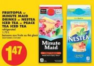 Fruitopia or Minute Maid Drinks or Nestea Iced Tea or Peace Tea Iced Tea - 1.75 L