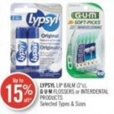 Lypsyl Lip Balm (2's) - Gu.m Flossers or Interdental Products