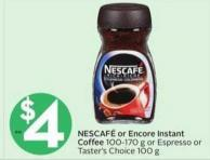 Nescafé or Encore Instant Coffee