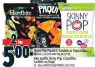 Skinny Pop Popcorn - Hardbite Or Paqui Chips 100 - 155 g