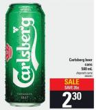 Carlsberg Beer Cans - 500 Ml