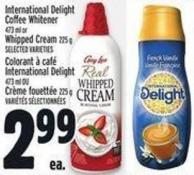 International Delight Coffee Whitener 473 ml Or  Whipped Cream 225 g