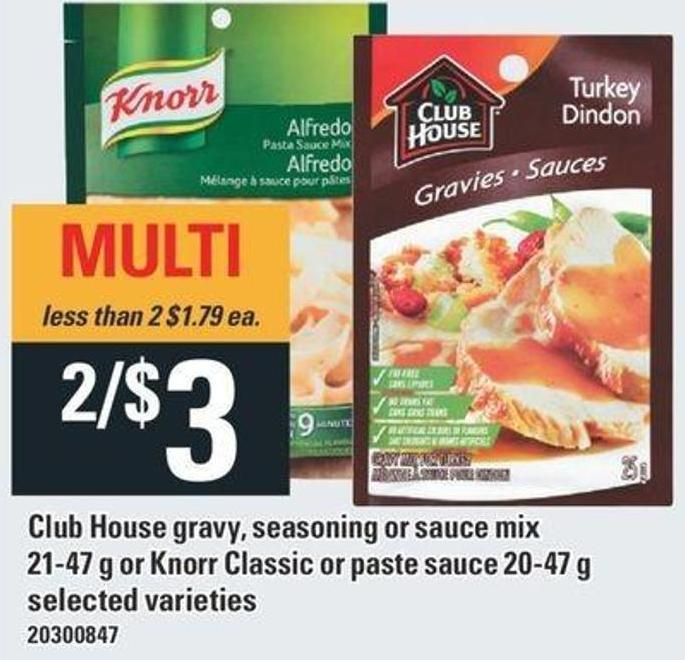 Club House Gravy - Seasoning Or Sauce Mix 21-47 G Or Knorr Classic Or Paste Sauce 20-47 G
