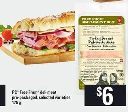PC Free From Deli Meat Pre-packaged - 175 G