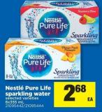 Nestlé Pure Life Sparkling Water - 8x355 mL