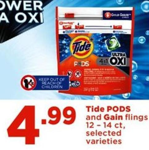 Tide PODS And Gain Flings - 12 – 14 Ct