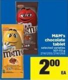 M&m's Chocolate Tablet - 107-113 g