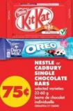 Nestle or Cadbury Single Chocolate Bars - 32-60 g