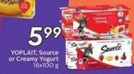 Yoplait - Source or Creamy Yogurt 16 X 100 g