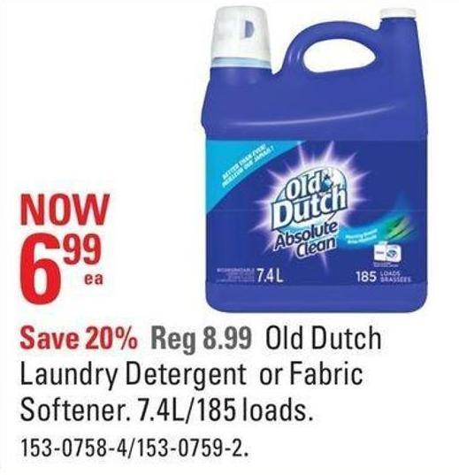Old Dutch Laundry Detergent or Fabric Softener