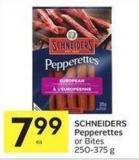 Schneiders Pepperettes or Bites