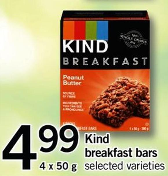 Kind Breakfast Bars - 4 X 50 G