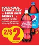 Coca-cola - Canada Dry Or Pepsi Soft Drinks - 2 L