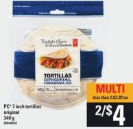 PC 7 Inch Tortillas - 340 G