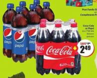 Coca-cola or Pepsi 6 X 710 mL