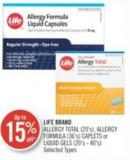 Life Brand Allergy Total (20's) - Allergy Formula (36's) Caplets or Liquid Gels (20's - 40's)