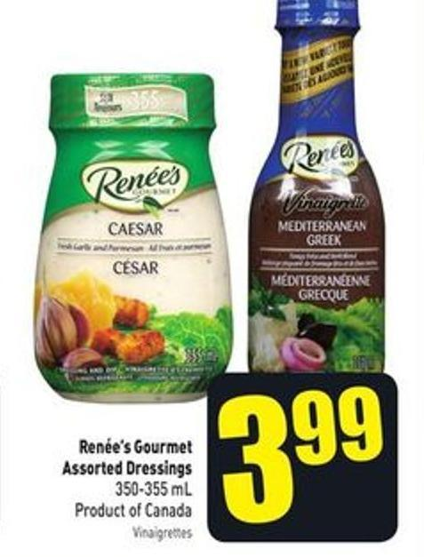 Renée's Gourmet Assorted Dressings 350-355 mL Product of Canada