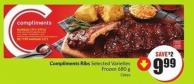 Compliments Ribs Selected Varieties Frozen 680 g