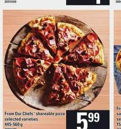 From Our Chefs Shareable Pizza - 445-560 g