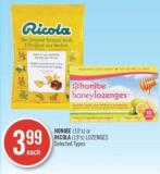 Honibe (10's) Or Ricola (19's) Lozenges