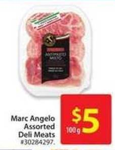 Marc Angelo Assorted Deli Meats
